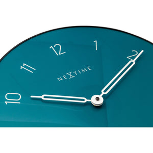 NeXtime - Wall clock - Ø 40 cm - Glass / Metal - Green - 'Carousel'