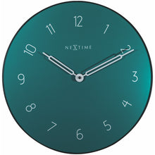 Load image into Gallery viewer, NeXtime - Wall clock - Ø 40 cm - Glass / Metal - Green - 'Carousel'