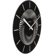 Load image into Gallery viewer, NeXtime - Wall clock - Ø 35 cm - Glass - Motion Clock- Black – 'Radial'