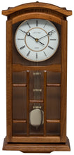 Load image into Gallery viewer, Kensington Oak Pendulum Clock Front View