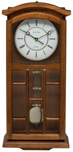 Kensington Oak Pendulum Clock Front View