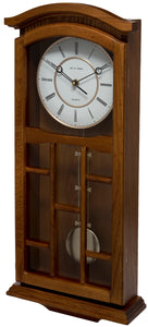 Kensington Oak Pendulum Clock Side View
