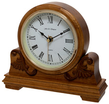 Load image into Gallery viewer, Buckingham Scroll Style Mantel Clock Side View