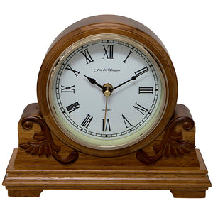 Buckingham Scroll Style Mantel Clock Front View