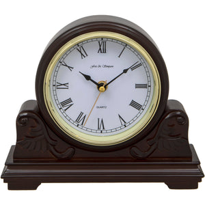 Buckingham Scroll Style Mahogany Mantel Clock