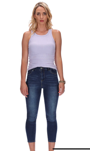 HONEY DENIM - The Cormac - High Waisted (Dark Blue)