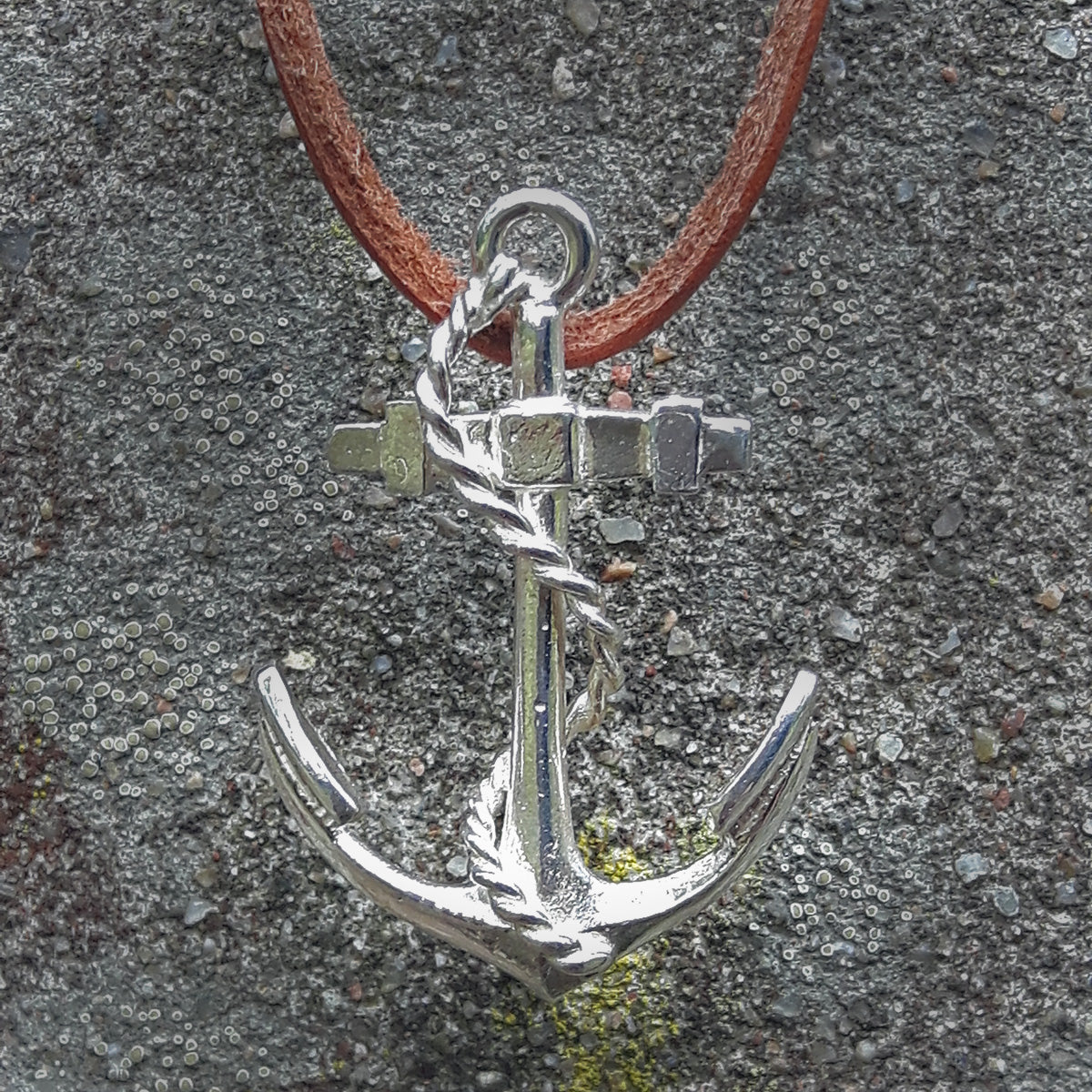 Anchor & Rope Necklace (large)