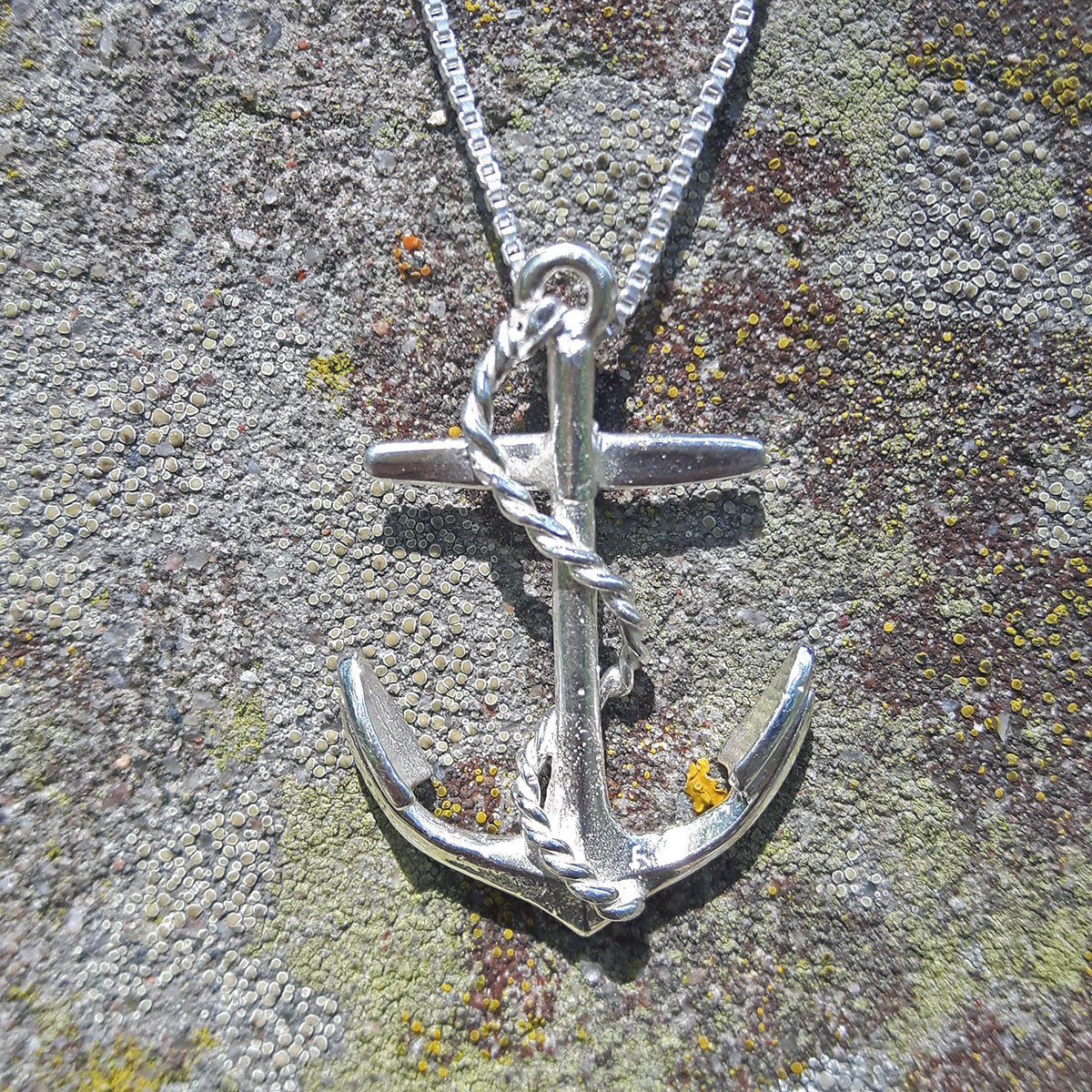 Anchor & Rope Necklace