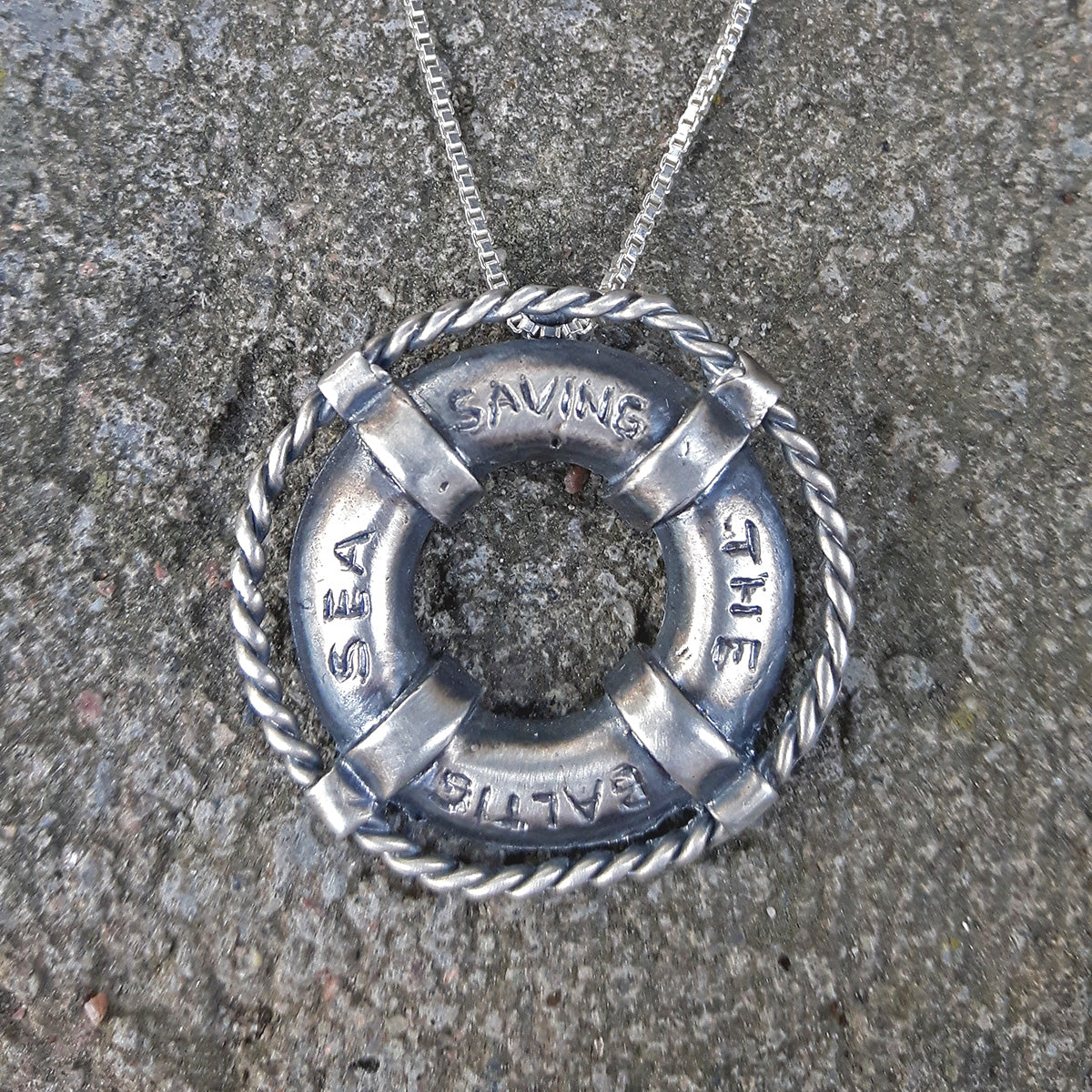 Saving the Baltic Sea Necklace (oxidized small)