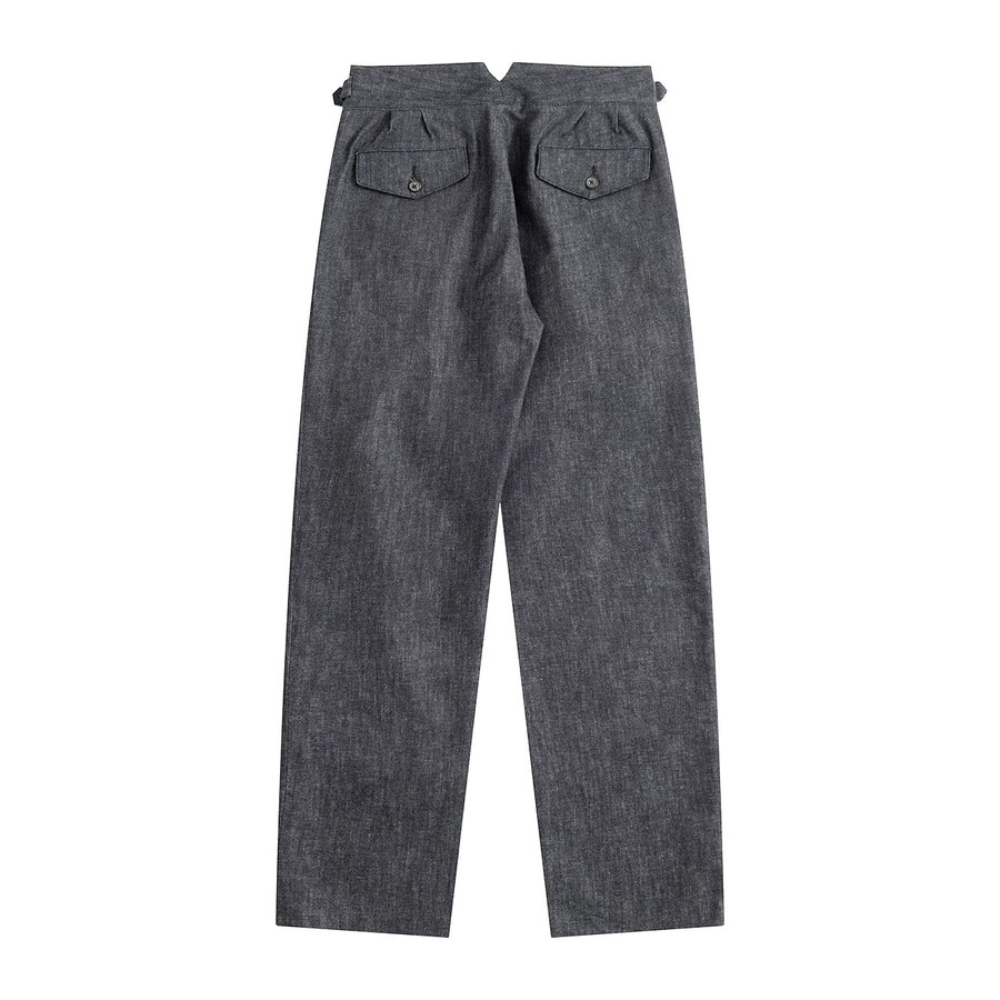 Sample Sale - Natural Dyed Japanese Denim Gurkha Pants - Craftsman Clothing Ltd.