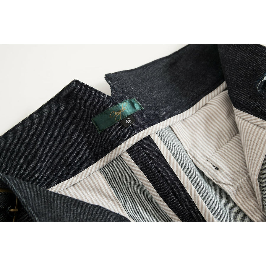 Raw Japanese Selvedge Denim Gurkha Pants - Craftsman Clothing Ltd.