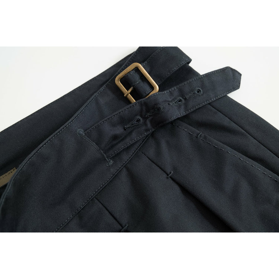 Chairman Navy Four Season Cotton Gurkha Pants - Craftsman Clothing Ltd.