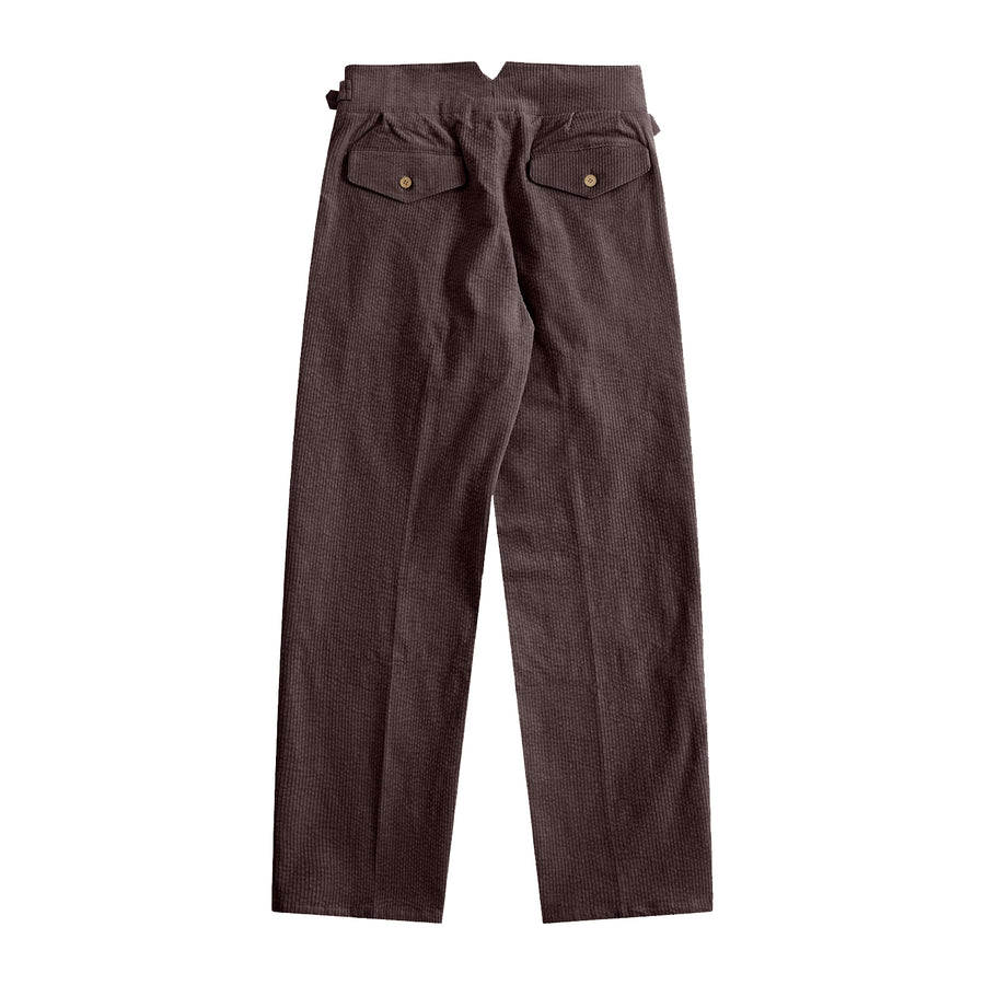 Sample Sale - Coffee Corduroy Gurkha Pants - Craftsman Clothing Ltd.