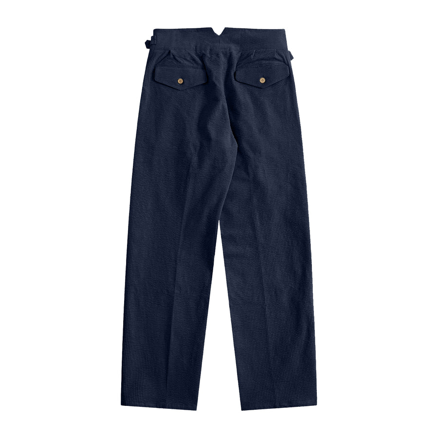 Sample Sale - Navy Blue Corduroy Gurkha Pants - Craftsman Clothing Ltd.