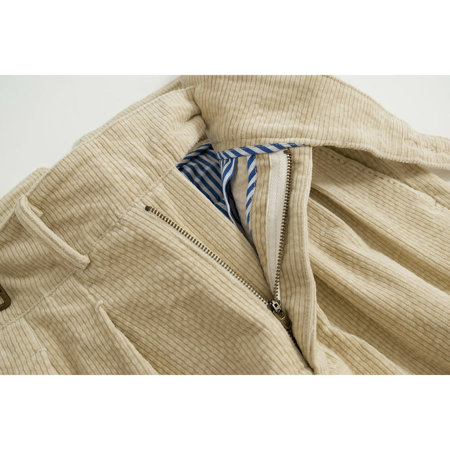 Cream Cotton Corduroy Gurkha Pants - Craftsman Clothing Ltd.