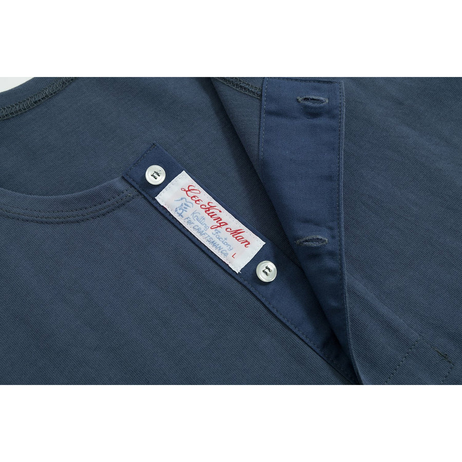 Washed Blue LEE Henley Tee - Craftsman Clothing Ltd.