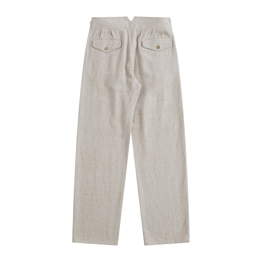 Stone Indian Textured Linen Gurkha Pants - Craftsman Clothing Ltd.