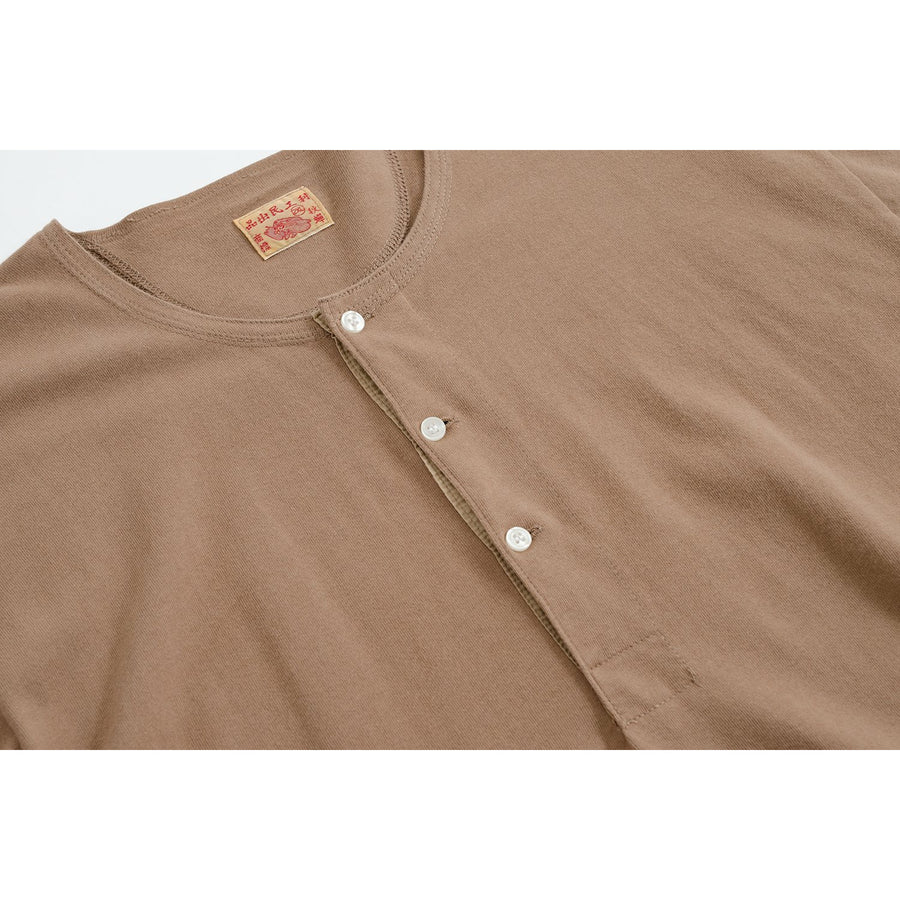 Camel Lee Henley - Two Ply 8 oz. - Craftsman Clothing Ltd.