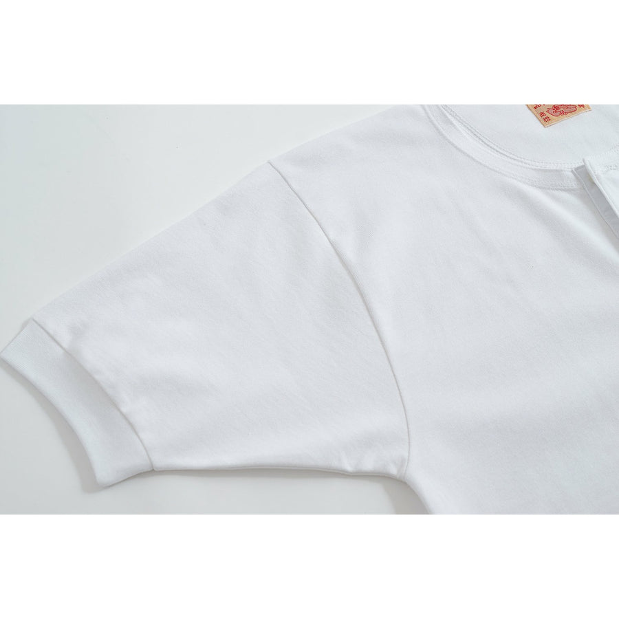 Off-White Lee Henley - Two Ply 8 oz. - Craftsman Clothing Ltd.