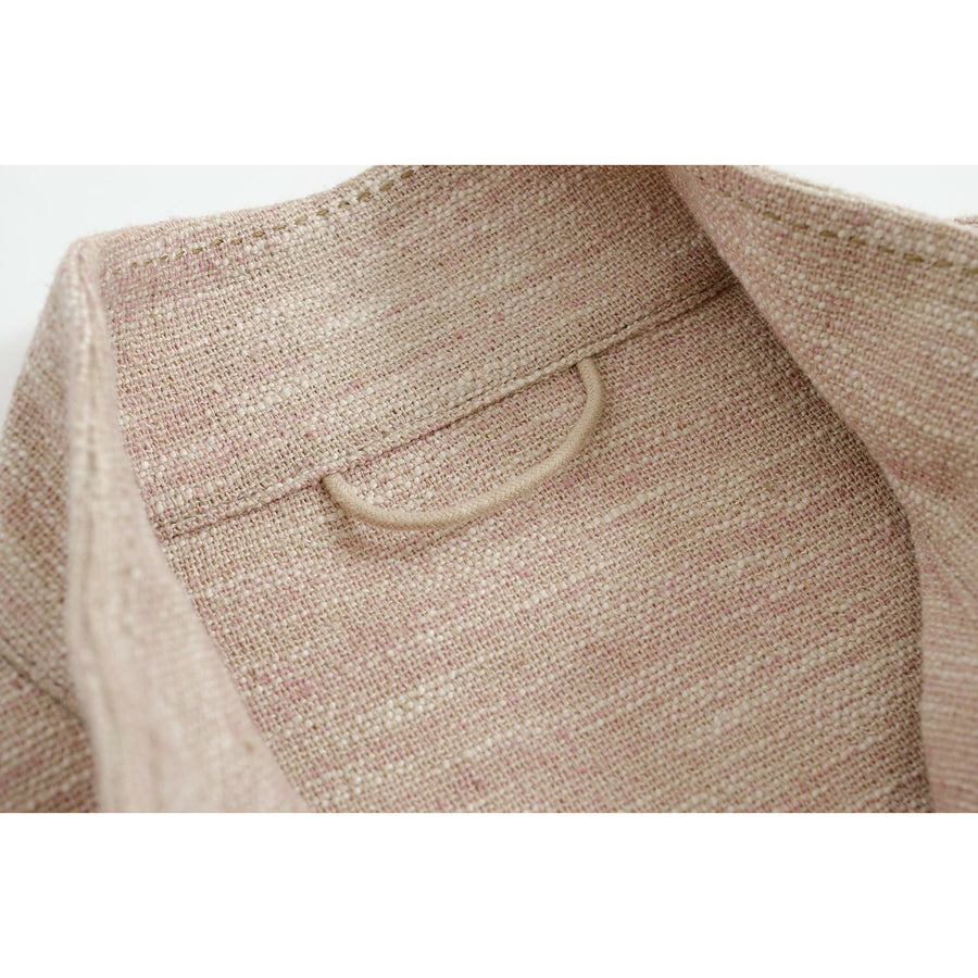 Pink Melage Linen-Silk De Niro M65 Field Jacket - Craftsman Clothing Ltd.