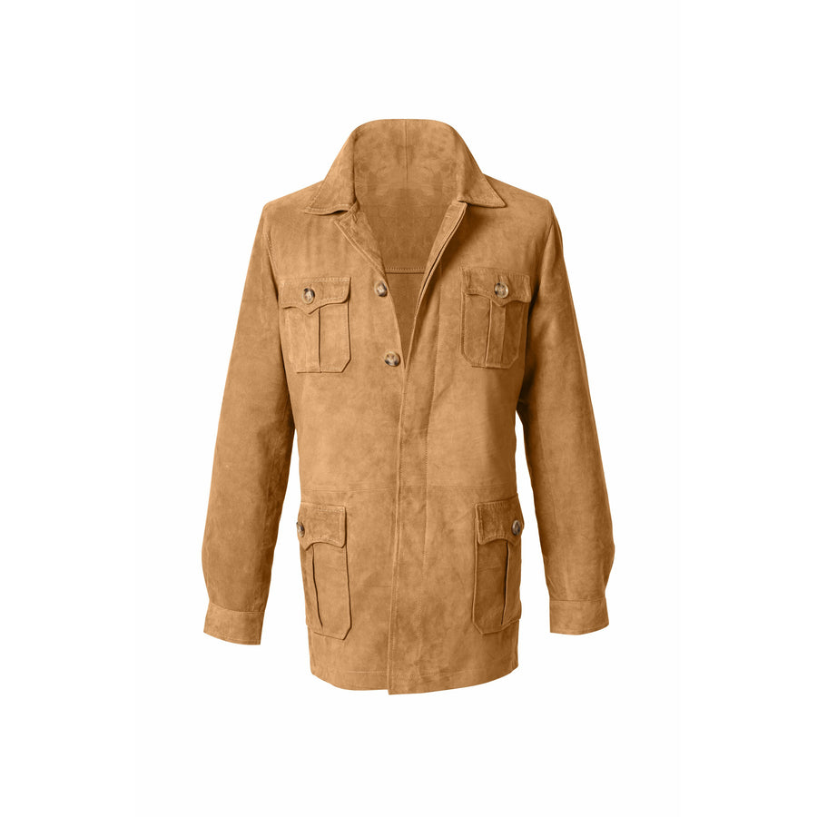 Hemingway Safari Suede Jacket MTO - Craftsman Clothing Ltd.