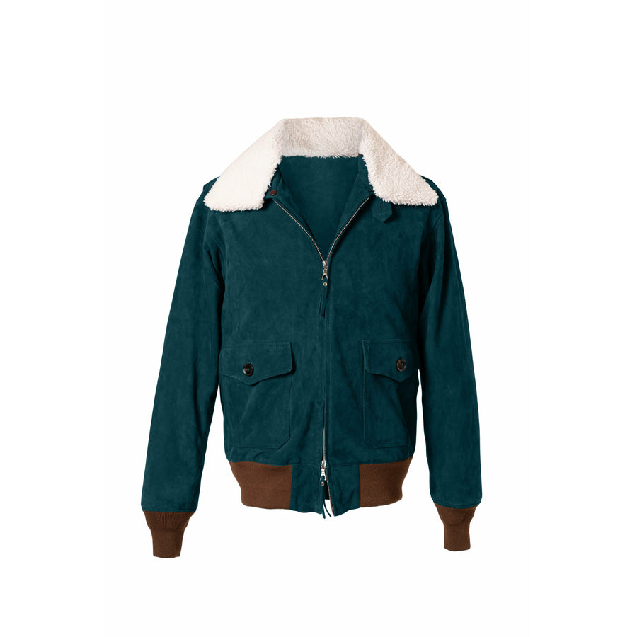 Newman G-1 Suede Bomber Jacket MTO - Craftsman Clothing Ltd.