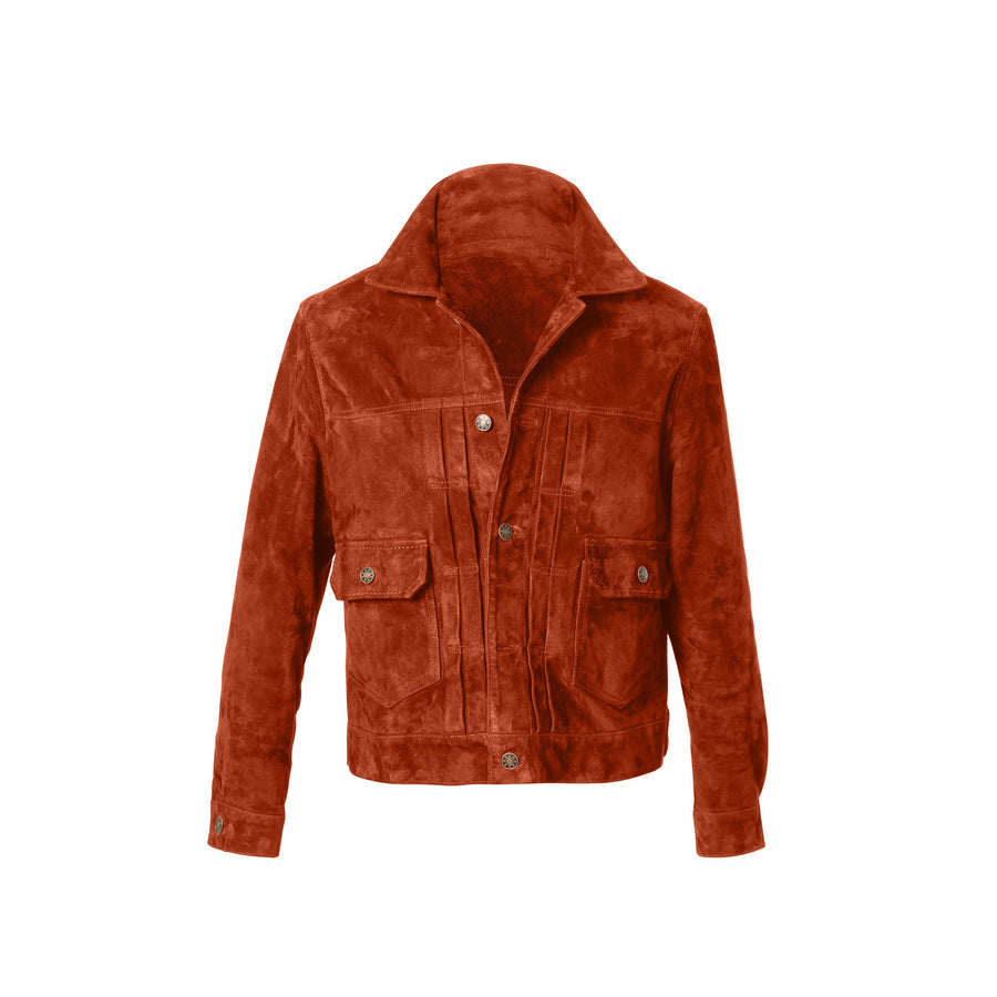 Presley Trucker Suede Jacket MTO - Craftsman Clothing Ltd.