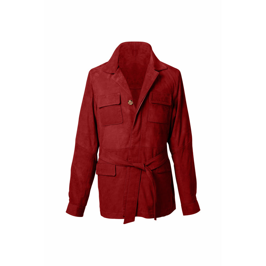 Rakish Belted Suede Safari Jacket MTO - Craftsman Clothing Ltd.