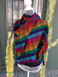 Rainbow shawl from Chiapas