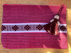 Handwoven cosmetic bag from Oaxaca