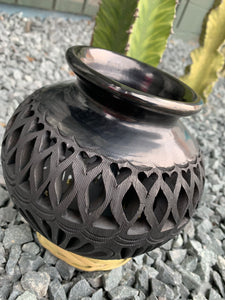 Vase made out of black clay from Oaxaca