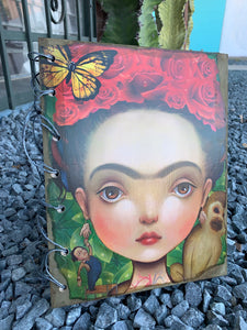 Frida notebooks made out of 100% recycled paper.