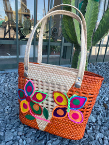 Handcrafted palm tote bag