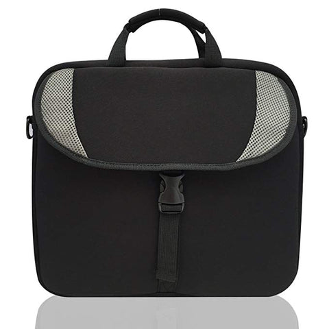 MSP Basic Black CrossBody Bags for School and Books | Water-resistant Neoprene Laptop Computer/Tablet carry-on traveling case