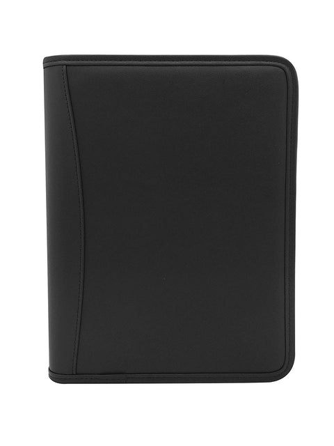 "MSP Executive 10.8 x 8.5"" Padfolio with Zippered Closure, Phone case and Mini Tablet Holder (All Black-Prime)"