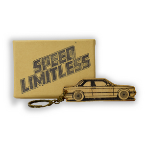E30 Wood Key Chain
