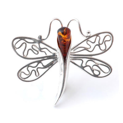 Droplets Butterfly Brooch