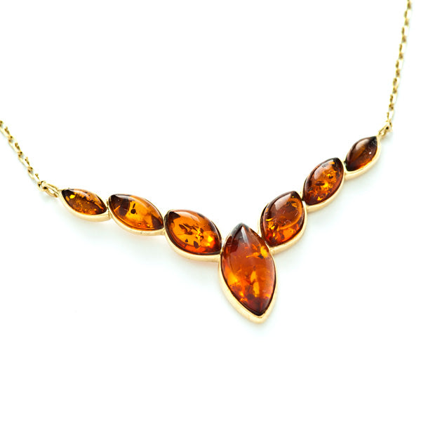 Gold and Amber Necklace