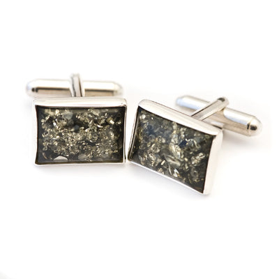Square Green Cufflinks