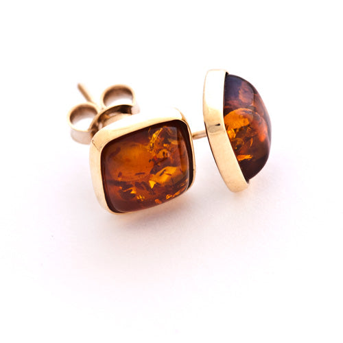 Square Gold Studs