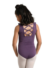 Danz N Motion - Ruffle V-Front Tank Leotard - Child (19115C) - Amethyst #