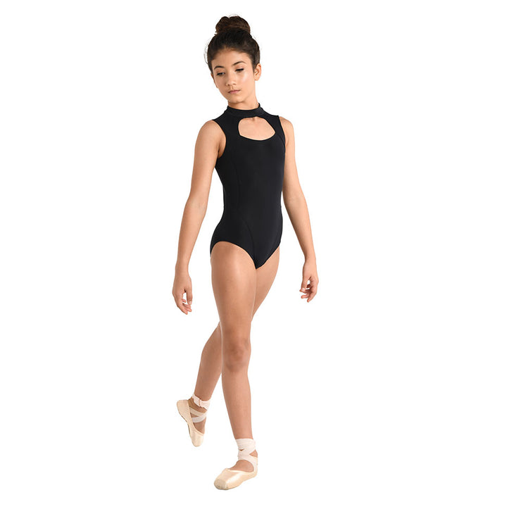 Danz N Motion - Mock Neck Scuba Style Leotard - Child/Adult (2733C/2733A) - Black *