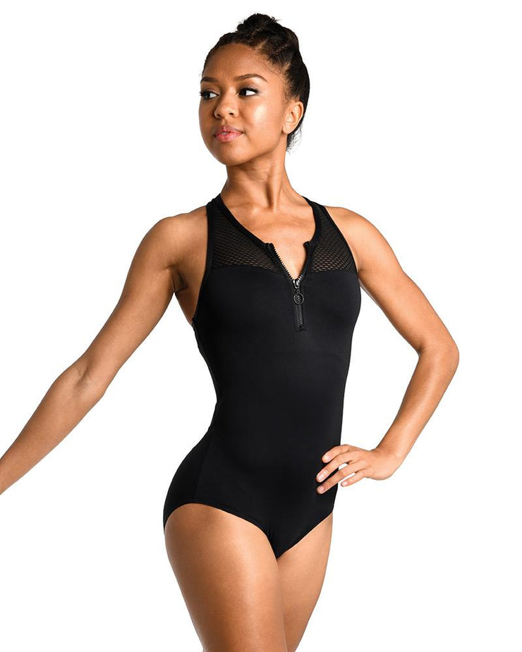 Danz N Motion - Contemporary Athletic Style Leotard - Child/Adult (2740C/2740A) - Black *