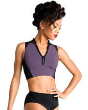 Danz N Motion - Scuba Zip Front Top - Child/Adult (2741C/2741A) - Amethyst *