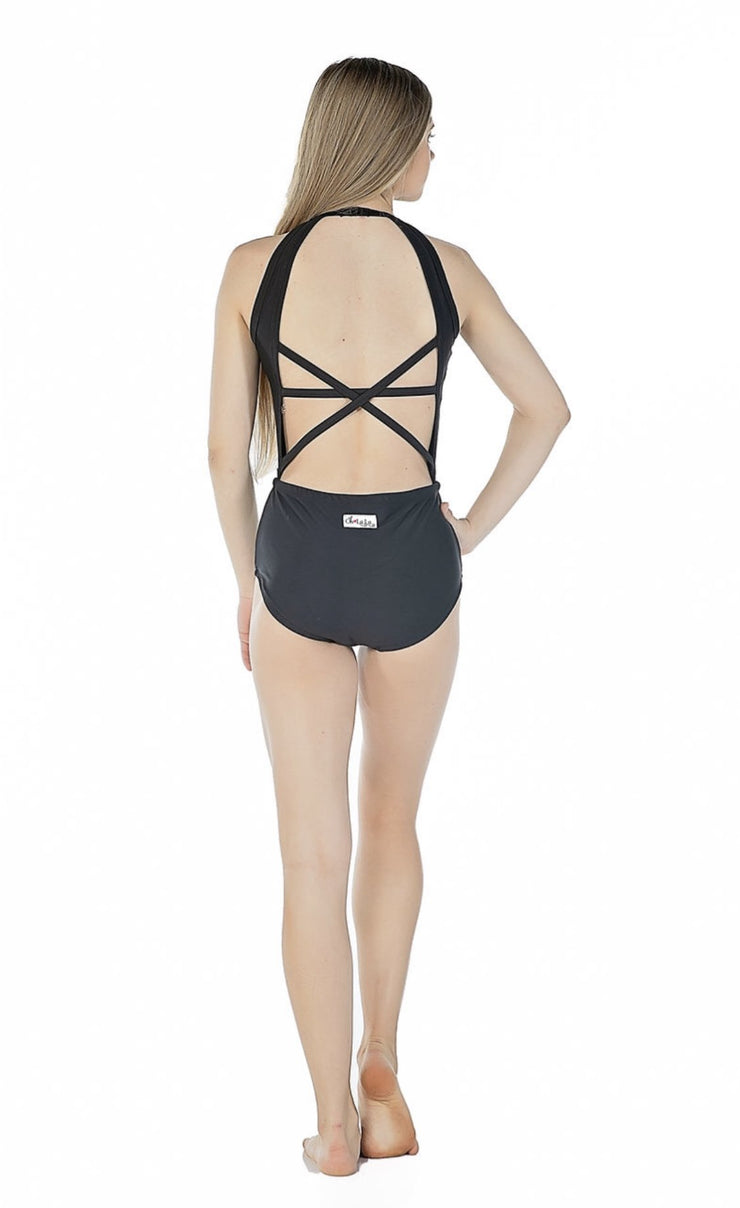 Oh La La Dancewear - The Delicate Leotard - Child/Adult (OLL-134-BLK) - Black *
