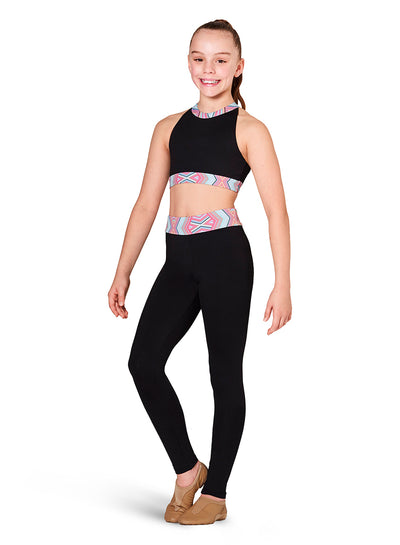Kaia by Bloch - Cherish High Neck Halter Top - Child (KA057T) - Cherish Black *