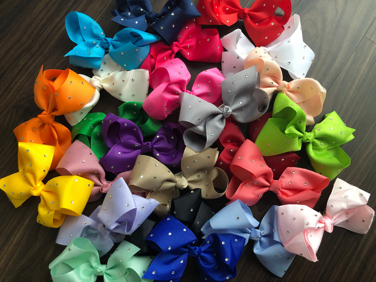 Hair Bows - Rhinestone - Various Colors