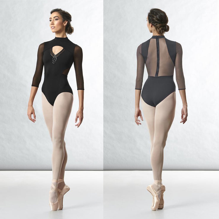 Bloch - Zip Back 3/4 Sleeve Leotard - Adult (L4856) - Black *