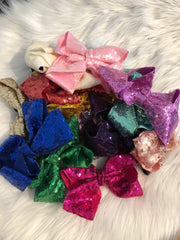 Hair Bows - Sequin - Various Colors