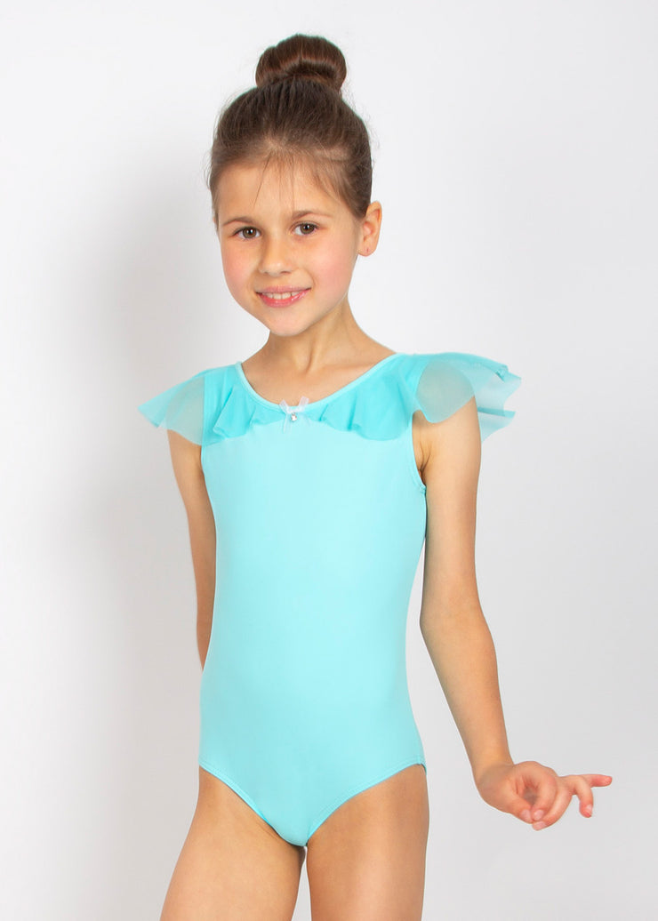 Nikolay - Belle Tank-style Leotard with shoulder overlay (DAD1977MPN) - Tiffany